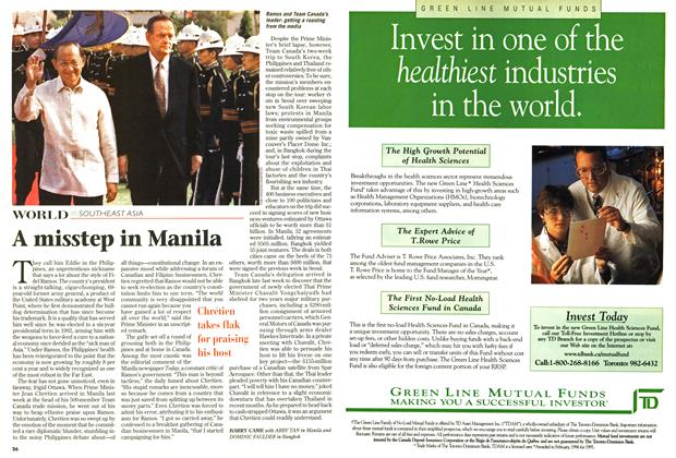 Article Preview: A misstep in Manila, January 1997 | Maclean's
