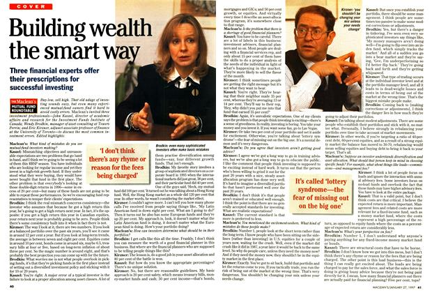 Article Preview: Building wealth the smart way, January 1997 | Maclean's