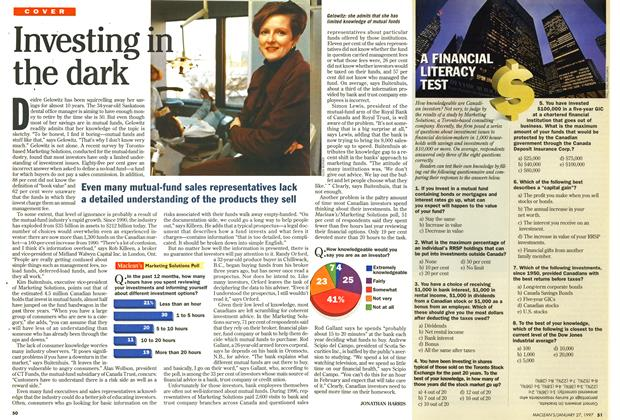 Article Preview: Investing in the dark, January 1997 | Maclean's