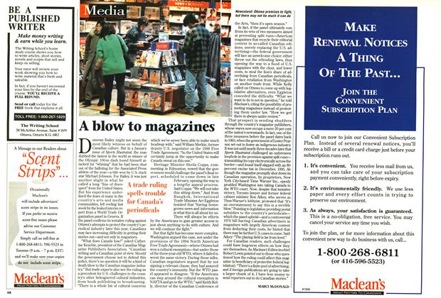 Article Preview: A blow to magazines, January 1997 | Maclean's