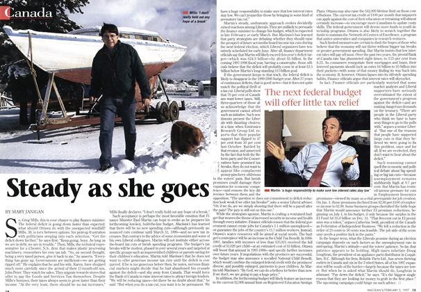 Article Preview: Steady as she goes, February 1997 | Maclean's