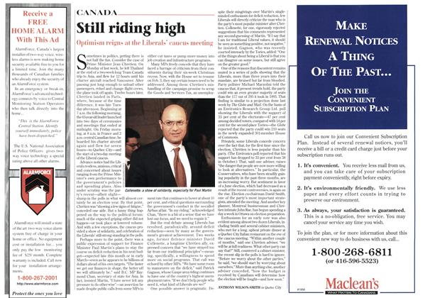 Article Preview: Still riding high, February 1997 | Maclean's