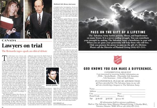 Article Preview: Lawyers on trial, February 1997 | Maclean's