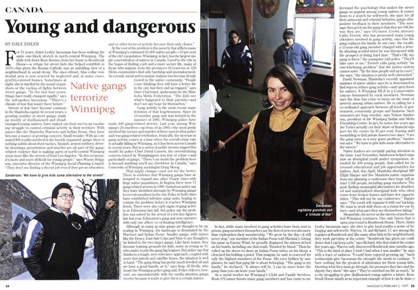 Article Preview: Young and dangerous, February 1997 | Maclean's