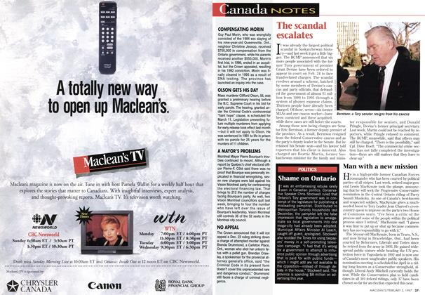 Article Preview: POLITICS, February 1997 | Maclean's