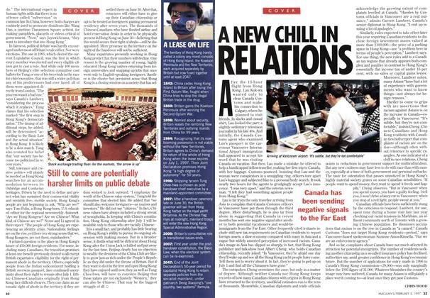 Article Preview: A NEW CHILL IN RELATIONS, February 1997 | Maclean's