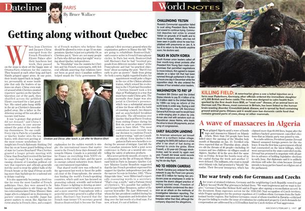Article Preview: Getting along without Quebec, February 1997 | Maclean's