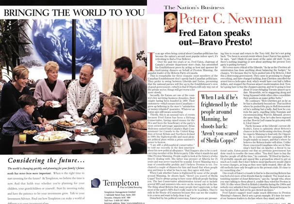 Article Preview: Fred Eaton speaks out—Bravo Presto!, February 1997 | Maclean's