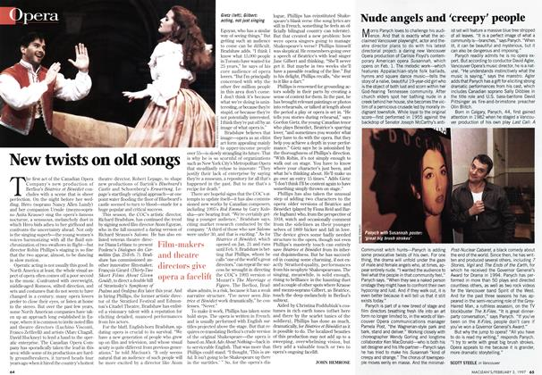 Article Preview: Nude angels and 'creepy' people, February 1997 | Maclean's