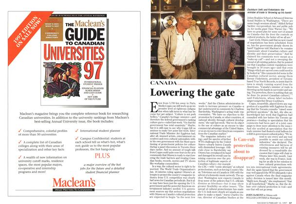Article Preview: Lowering the gate, February 1997 | Maclean's