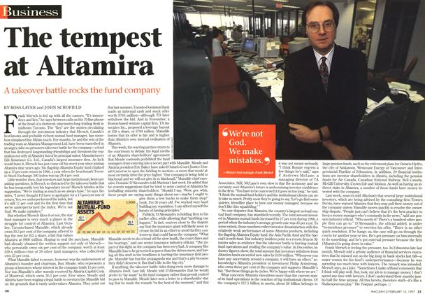 Article Preview: The tempest at Altamira, February 1997 | Maclean's