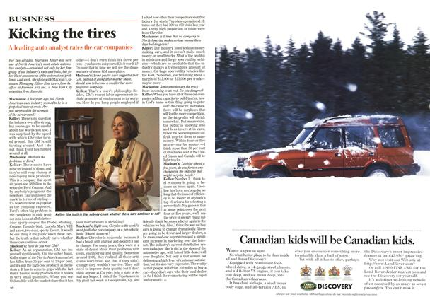 Article Preview: Kicking the tires, February 1997 | Maclean's