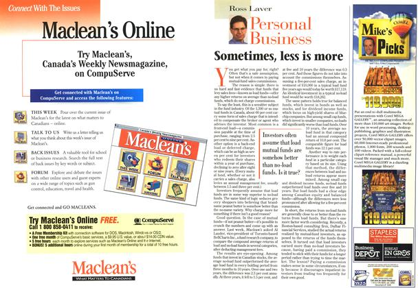 Article Preview: Sometimes, less is more, February 1997 | Maclean's