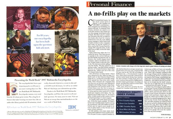 Article Preview: A no-frills play on the markets, February 1997 | Maclean's