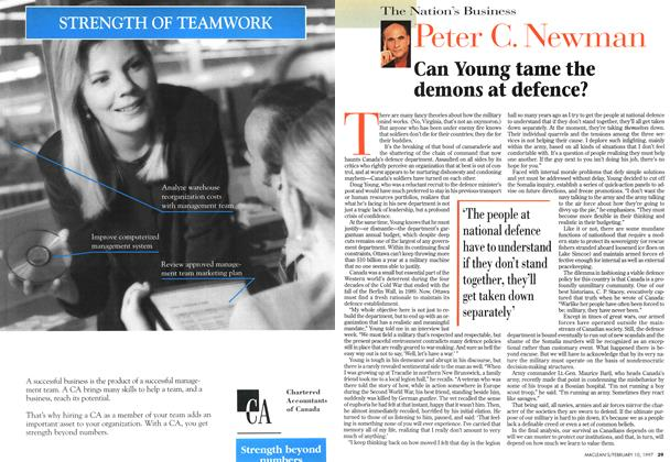 Article Preview: Can Young tame the demons at defence?, February 1997 | Maclean's