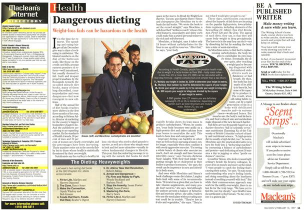 Article Preview: Dangerous dieting, February 1997 | Maclean's