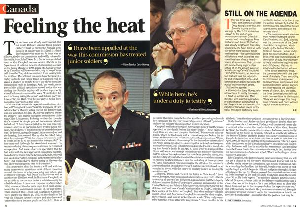 Article Preview: Feeling the heat, February 1997 | Maclean's