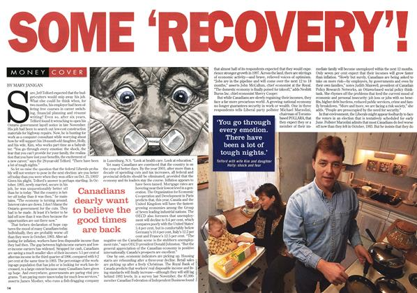 Article Preview: SOME 'RECOVERY'!, February 1997 | Maclean's
