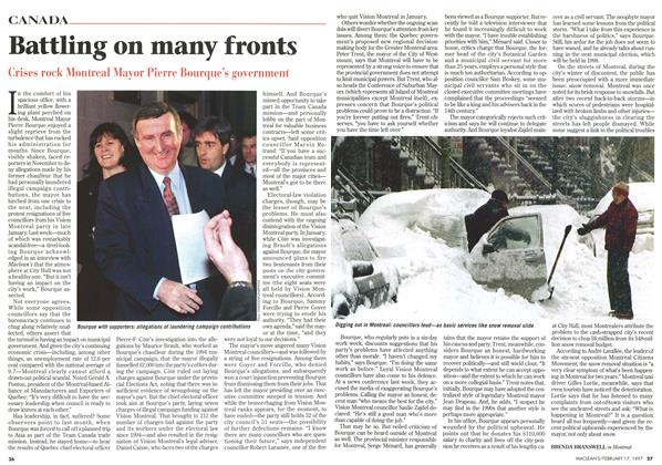 Article Preview: Battling on many fronts, February 1997 | Maclean's
