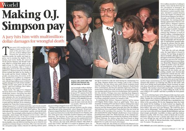 Article Preview: Making O.J. Simpson pay, February 1997 | Maclean's