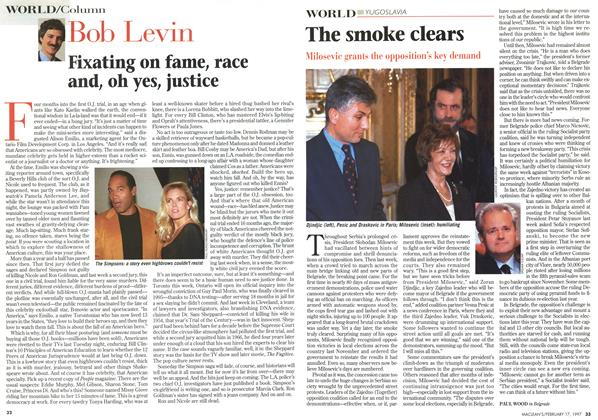 Article Preview: The smoke clears, February 1997 | Maclean's