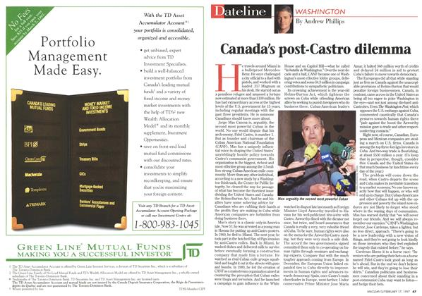 Article Preview: Canada's post-Castro dilemma, February 1997 | Maclean's