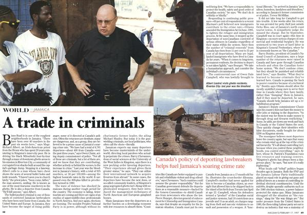 Article Preview: A trade in criminals, February 1997 | Maclean's