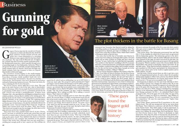 Article Preview: Gunning for gold, February 1997 | Maclean's