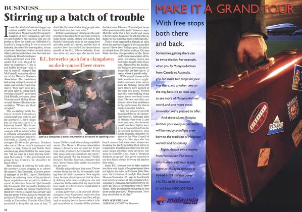 Article Preview: Stirring up a batch of trouble, February 1997 | Maclean's