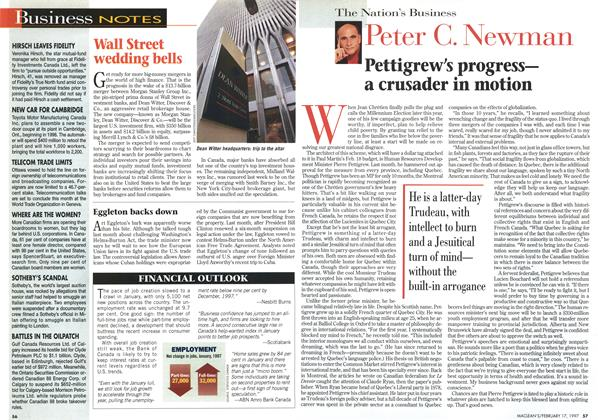 Article Preview: Pettigrew's progress— a crusader in motion, February 1997   Maclean's