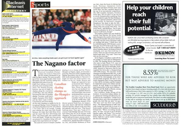 Article Preview: The Nagano factor, February 1997 | Maclean's