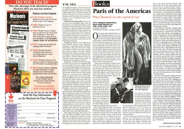 Article Preview: Paris of the Americas, February 1997 | Maclean's