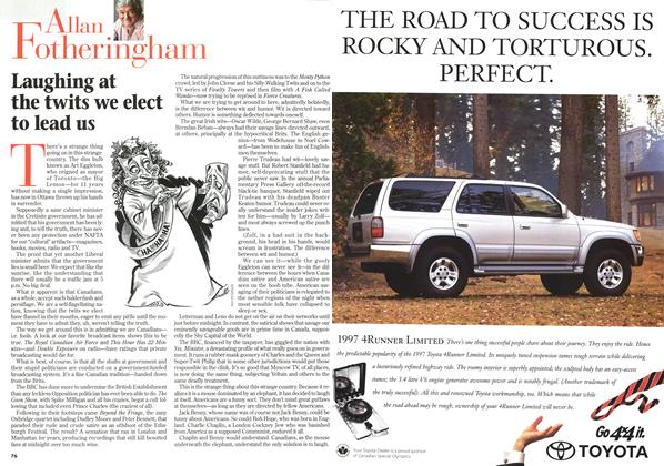 Article Preview: Laughing at the twits we elect to lead us, February 1997   Maclean's