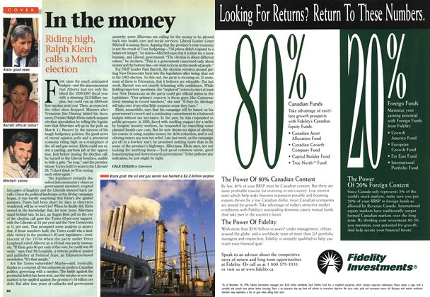 Article Preview: In the money, February 1997 | Maclean's