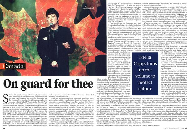 Article Preview: On guard for thee, February 1997 | Maclean's