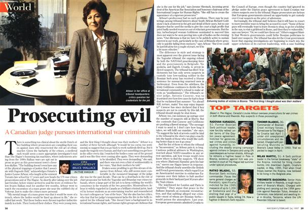 Article Preview: Prosecuting evil, February 1997 | Maclean's