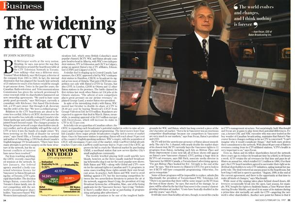 Article Preview: The widening rift at CTV, February 1997 | Maclean's