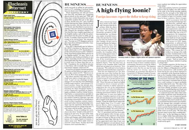 Article Preview: A high-flying loonie?, February 1997 | Maclean's