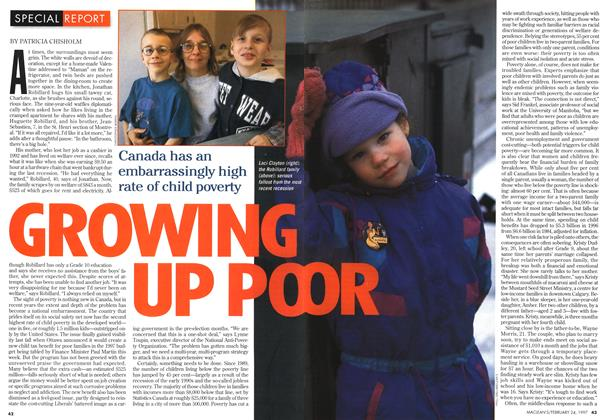 Article Preview: GROWING UP POOR, February 1997 | Maclean's