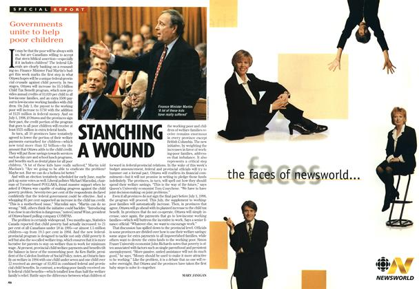 Article Preview: STANCHING A WOUND, February 1997 | Maclean's