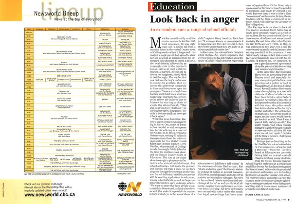 Article Preview: Look back in anger, February 1997 | Maclean's