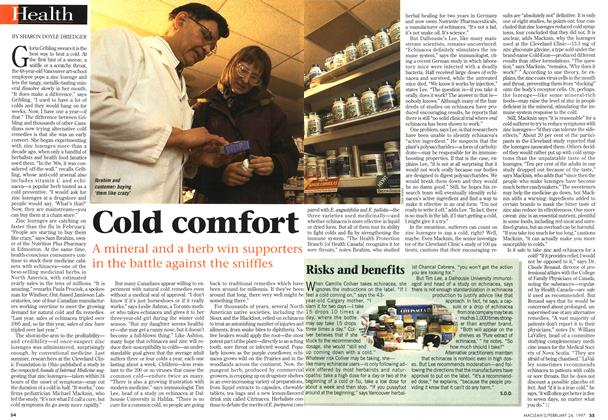 Article Preview: Cold comfort, February 1997 | Maclean's