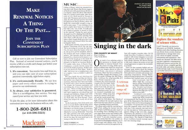 Article Preview: Singing in the dark, February 1997 | Maclean's