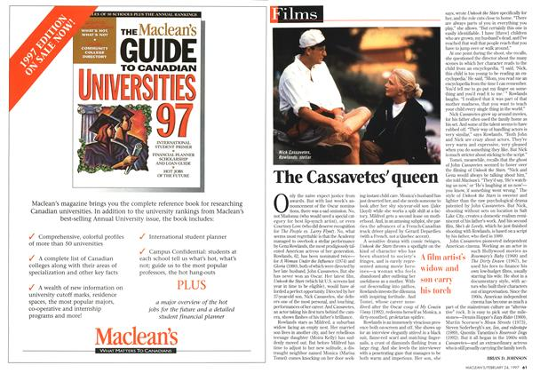 Article Preview: The Cassavetes' queen, February 1997 | Maclean's