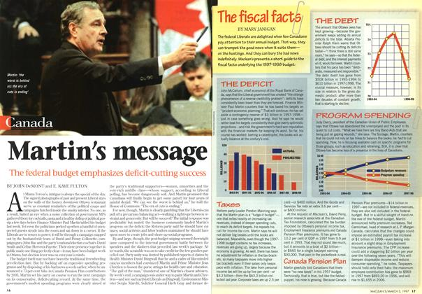 Article Preview: Martin's message, March 1997 | Maclean's