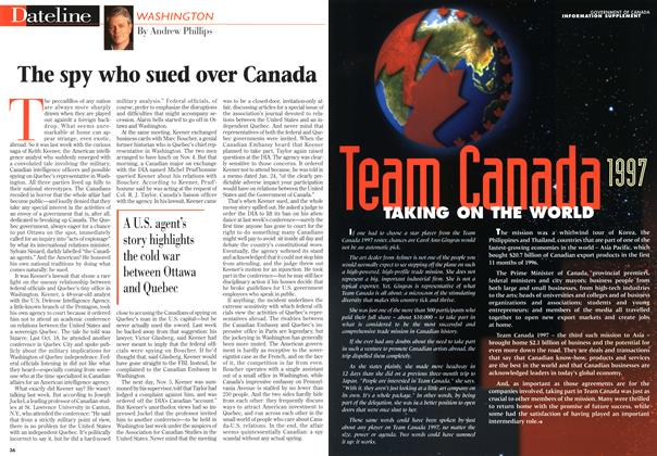 Article Preview: The spy who sued over Canada, March 1997 | Maclean's