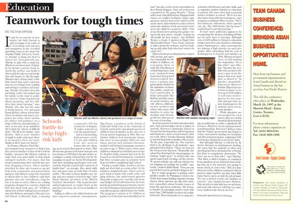 Article Preview: Teamwork for tough times, March 1997 | Maclean's