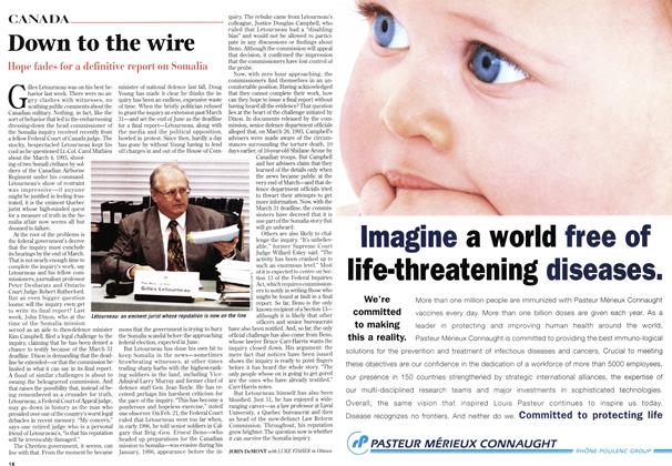 Article Preview: Down to the wire, March 1997 | Maclean's