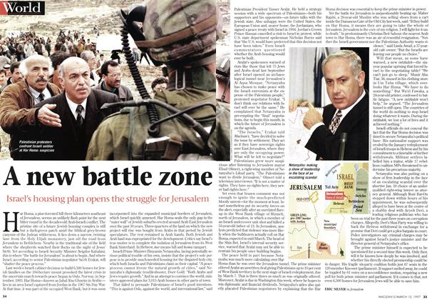 Article Preview: A new battle zone, March 1997 | Maclean's