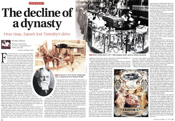 Article Preview: The decline of a dynasty, March 1997 | Maclean's